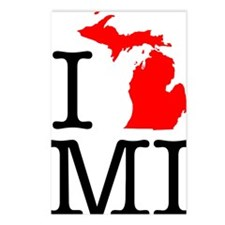 I Love MI Michigan Postcards (Package of 8)