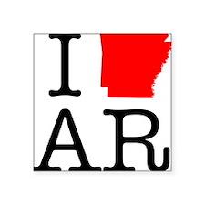 "I Love AR Arkansas Square Sticker 3"" x 3"""