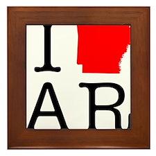 I Love AR Arkansas Framed Tile