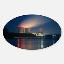 Three Mile Island nuclear power sta Sticker (Oval)