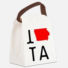 I Love IA Iowa Canvas Lunch Bag