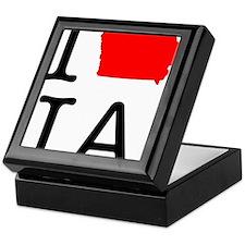 I Love IA Iowa Keepsake Box