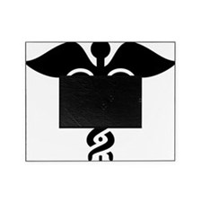 Black print Caduceus Picture Frame