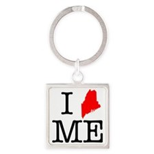 I Love ME Maine Square Keychain