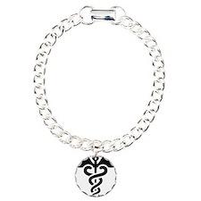Black print Caduceus Bracelet