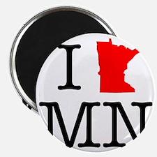 I Love MN Minnesota Magnet