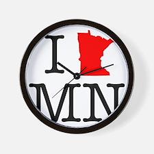 I Love MN Minnesota Wall Clock