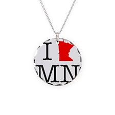 I Love MN Minnesota Necklace