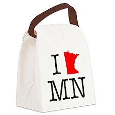I Love MN Minnesota Canvas Lunch Bag