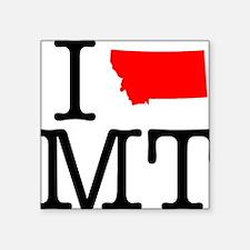"I Love MT Montana Square Sticker 3"" x 3"""