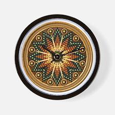 Native American Rosette - 01 Wall Clock