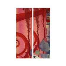 Red Swirl Rectangle Magnet