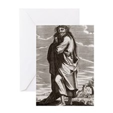Thales of Miletus, Greek philosopher Greeting Card