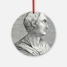 Tacitus, Roman senator and historia Round Ornament