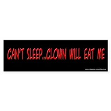 Simpsons Clown Will Eat Me Bumper Bumper Sticker