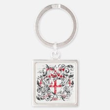 London Dark Square Keychain