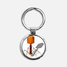 T4 bacteriophage, artwork Round Keychain