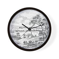 Sydney Cove, Australia, circa 1790 Wall Clock