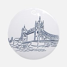England: Tower Bridge Ornament (Round)