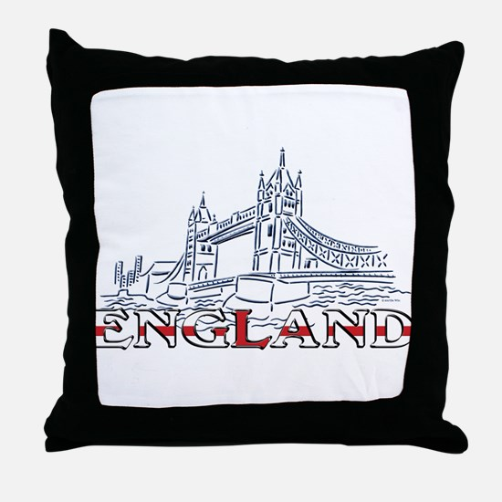 England: Tower Bridge Throw Pillow