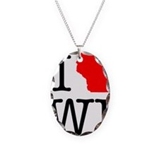 I Love WI Wisconsin Necklace