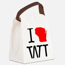 I Love WI Wisconsin Canvas Lunch Bag