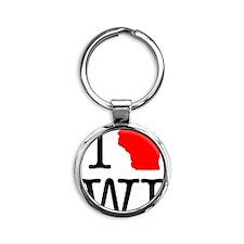 I Love WI Wisconsin Round Keychain