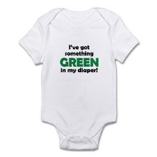 Green Diaper Infant Bodysuit