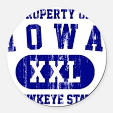 Iowa, Hawkeye State Round Car Magnet