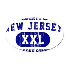 New Jersey of Garden State Oval Car Magnet