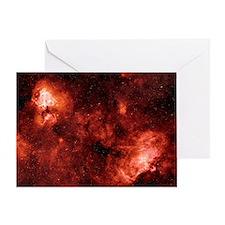 Swan and Eagle nebulae Greeting Card