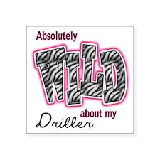 "WILDDRILLER Square Sticker 3"" x 3"""