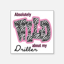 "WILDDRILLER Square Sticker 3"" x 3"""