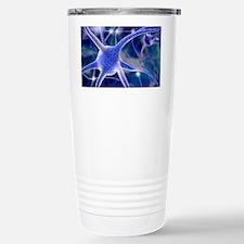 Nerve cells, computer artwork Stainless Steel Trav