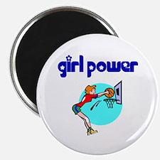 Girl Power Basketball Magnet