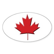 Canada: Maple Leaf Oval Decal
