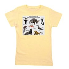 Animals of the Galapagos Islands Girl's Tee