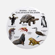 Animals of the Galapagos Islands Round Ornament