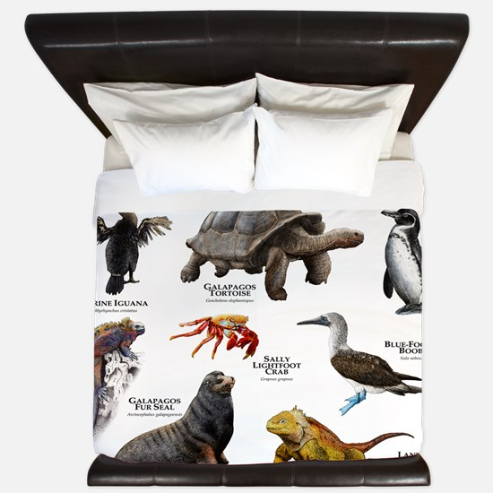 Animals of the Galapagos Islands King Duvet