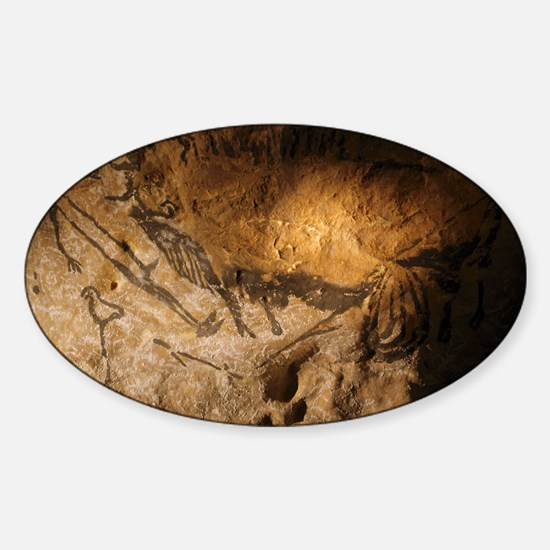 Stone-age cave paintings, Lascaux,  Sticker (Oval)