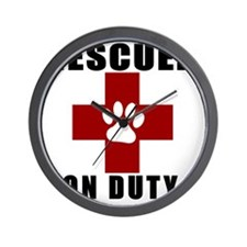 Rescuer, ON DUTY Wall Clock