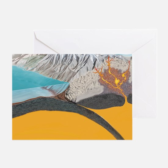 Subduction zone processes Greeting Card