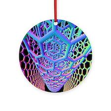 Nanotube technology Round Ornament
