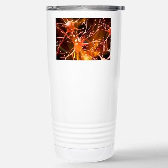 Nerve cells, artwork Stainless Steel Travel Mug