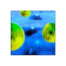 """Nanoparticles, artwork Square Sticker 3"""" x 3"""""""