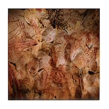 Stone-age cave paintings, Asturias, S Tile Coaster