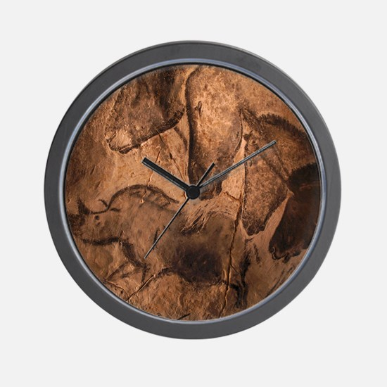Stone-age cave paintings, Chauvet, Fran Wall Clock