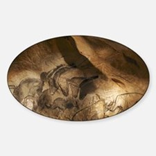 Stone-age cave paintings, Chauvet,  Sticker (Oval)