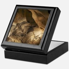 Stone-age cave paintings, Chauvet, Fr Keepsake Box