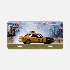 Stock car racing near Apple Aluminum License Plate